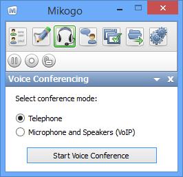 Start Mikogo Teleconference