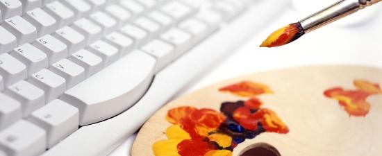 Paintbrush and Keyboard