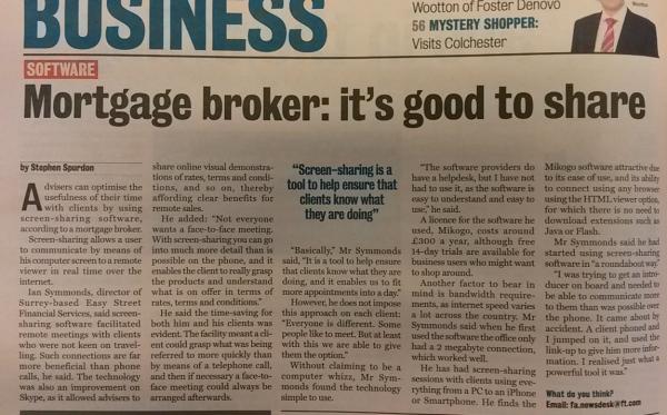 Mikogo Easy Street Financial Adviser Article