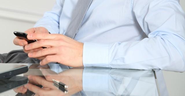 Businessman iphone