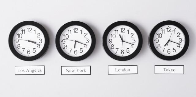 Different city clocks